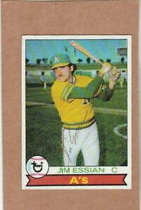 1979 Topps #  458 Jim Essian  -autographed card