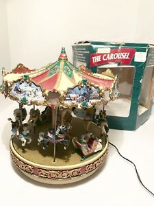 Mr Christmas Carousel.Details About Mr Christmas The Carousel Holiday Around 30 Songs Lighted 1997 Rare