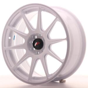 """Un Cerchio in Lega Japan Racing JR11 17"""" x 7.25"""" ET35 4 x 100 / 114.3 Bianco"""