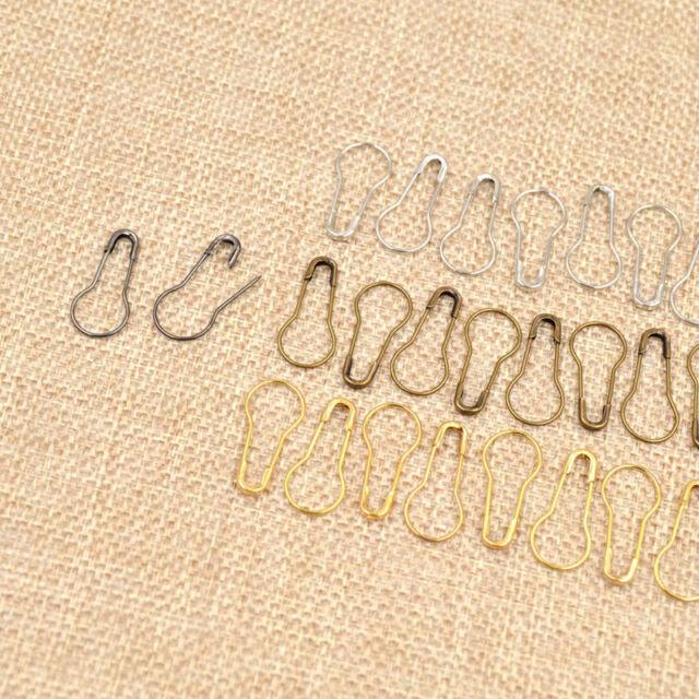 100//300Pcs Needle Clip Knitting Craft Stitch Crochet Tool Copper Markers Locking