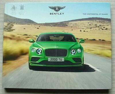 BENTLEY CONTINENTAL GTC AND GTC SPEED DEALER BROCHURE HARD BACK BOOK