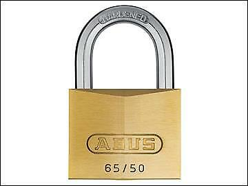 ABUS 65/50mm Brass Padlock Keyed Alike 505 ABUKA03906