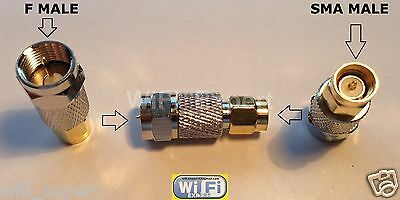 F Type Male Jack to SMA Male Plug Straight Adapter RF Connector Converter