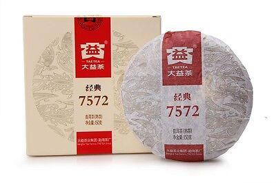 150g cake 7572 Menghai Taetea Dayi puer tea puerh ripe cooked tea Year 2013