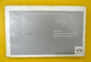 m45 m 45 03 2003 infiniti navigation nav system owner s owners rh ebay com 2004 Infiniti I-35 Interior Interior 2003 Infiniti I-35