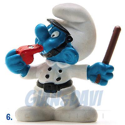 Puffo Puffi Smurf Smurfs Schtroumpf 2.0123 20123 Policeman Puffo Poliziotto 6a Attraente E Durevole
