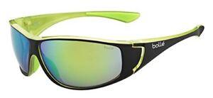 63adac266ed Image is loading Bolle-Highwood-Sunglasses-12025-Matte-Black-Green-Frame-