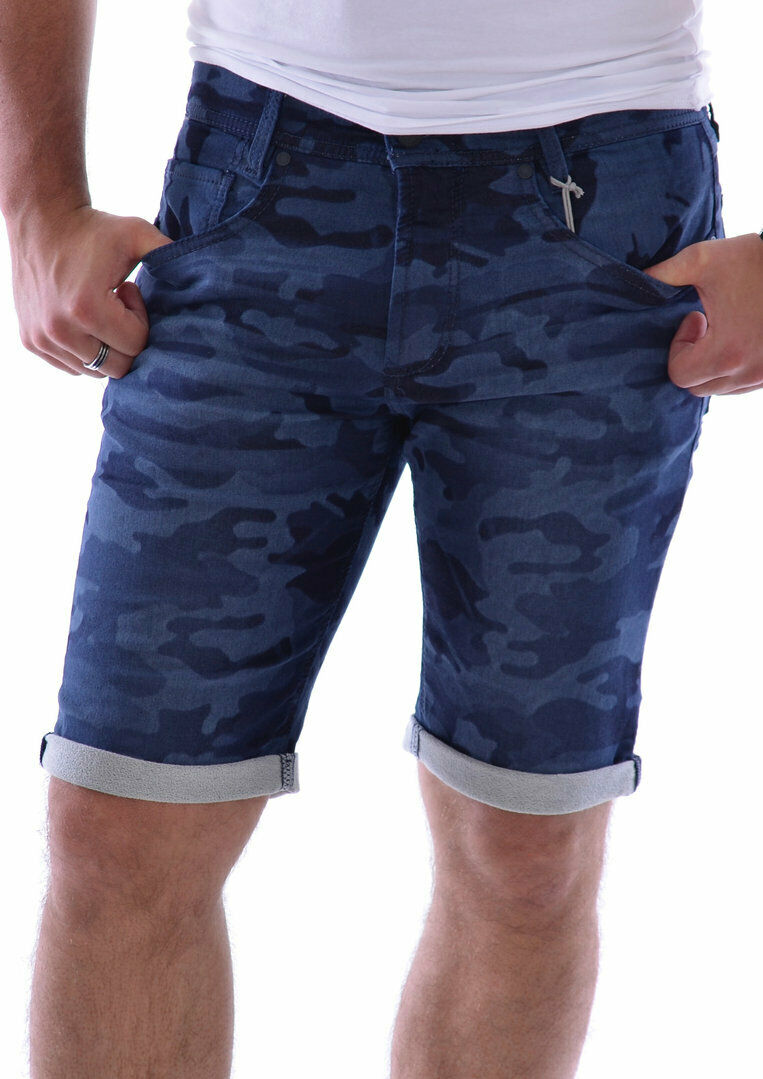 Mac Uomo Jog 'n Bermuda Jeans, BLU MIMETICO TG. w32, w33, w35, w36