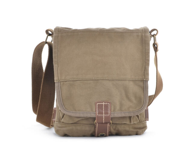 13e2e3c82bfb Otium 21223AMG Cotton Canvas Cross Body Small Messenger Bag Shoulder ...