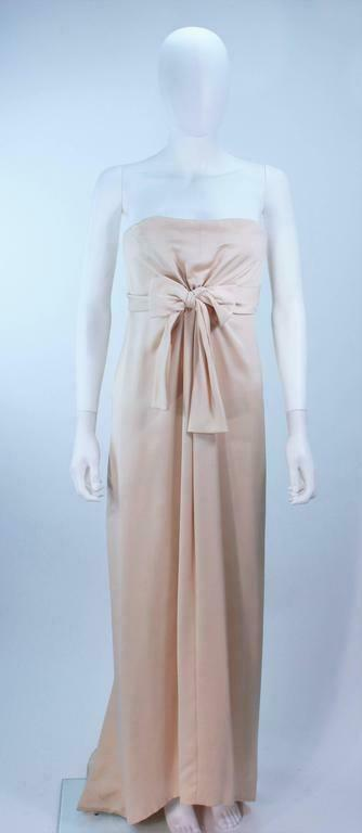 GIVENCHY COUTURE Circa 1960s Nude Gown w/ Beaded … - image 5