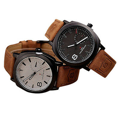 CURREN Unisex Stunning Quartz Analog Faux Leather Strap Wrist Watch Hot Sale