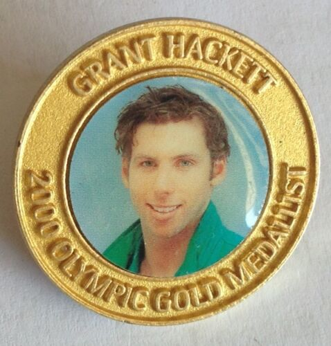 Grant Hackett 2000 Olympic Swimming Gold Medallist Pin Badge Rare Vintage F3