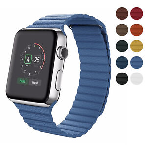 For Apple Watch Magnetic Leather Loop Band Series 5 4 3 2 1 42mm 38mm 44mm 40mm Ebay