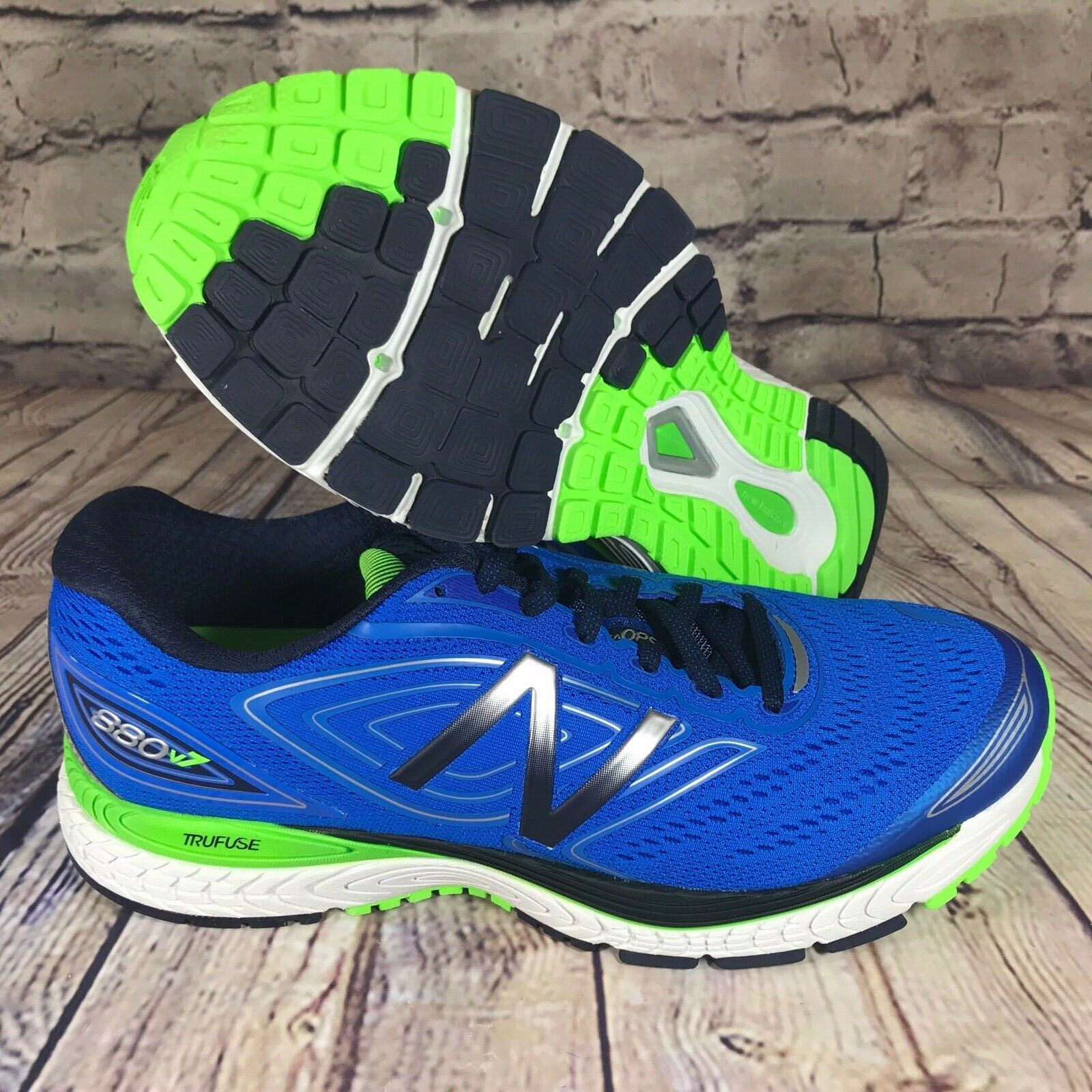 New Balance Men's 880v7 shoes bluee Running shoes WIDE 2E M880BW7
