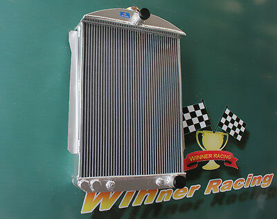 FOR CHEVY CAR STREET ROD 1940 1941 ALUMINUM RADIATOR AUTO A//T 56MM CORE