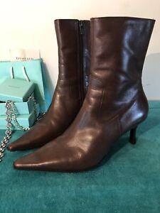 DIBA Women Sz 7M Ankle Boots Brown