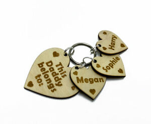 Personalised-Gift-Key-Ring-for-Daddy-with-Engraved-Child-Name-on-a-Small-Hearts