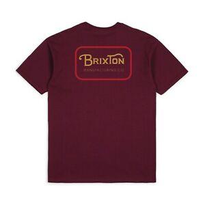BRIXTON-GRADE-S-S-STANDARD-TEE-SHIRT-BURGUNDY-RED