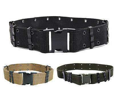 New  Adjustable Men Army Military Tactical Belts Heavy Duty Combat Waistband