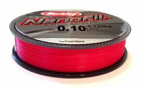 Berkley-Nanofil-125m-spools-Uni-Lo-Vis-Red-Filament-Line-NEW