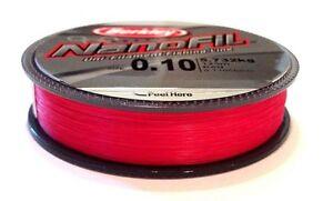 Berkley-Nanofil-125m-spools-Uni-Lo-Vis-Red-Filament-Line-NEW