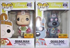 Quailman & Quaildog Ensemble de figurines en vinyle 4 po de Disney Doug Pop, ensemble de 2 sujets chauds 2018 Inch Vinyl Figure Set Of 2 Hot Topic 2018