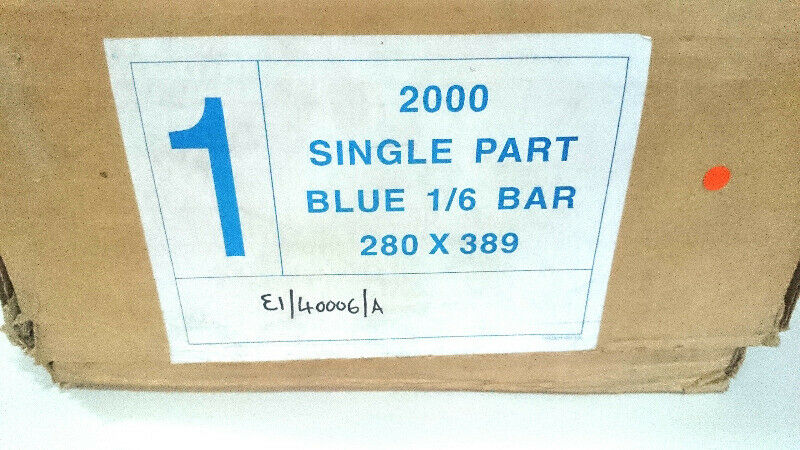Paper 1part blue 1/6 bar