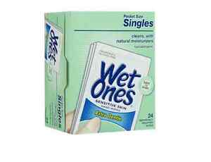 WET ONES Sensitive Skin Hand Wipes, Singles Extra Gentle Fragrance & Alcohol Free 24 ea ( Pack of 2) GM Collin Soothing Travel Kit - Sensitive Skin