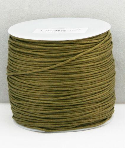 1mm Wax Cotton Cord 100 meters Shamballa 10 20 1 Macrame Jewellery 30