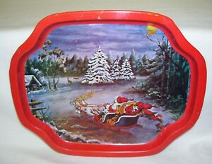 Vintage-Christmas-Tip-Tray-Santa-Claus-and-Elf