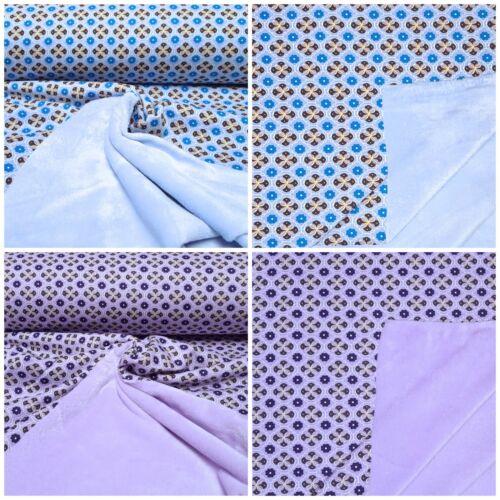 Alpenfleece doble cara de Alpes paño grueso y suave sudor camisa tejidos algodón flores 2 caras