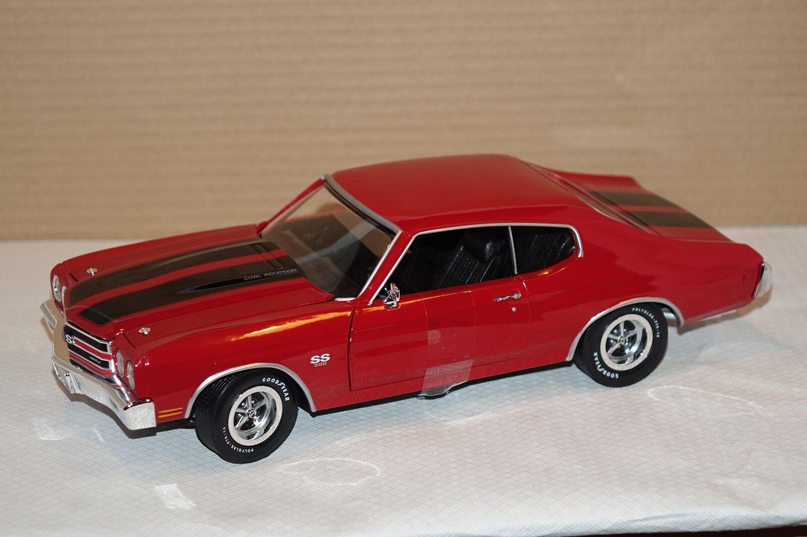 gran descuento Chevy Chevy Chevy Chevelle SS 396 rojo 1970 1 18 auto World amm1082 nuevo & OVP  entrega de rayos