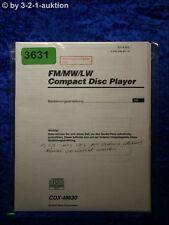 Sony Bedienungsanleitung CDX M630 CD Player (#3631)