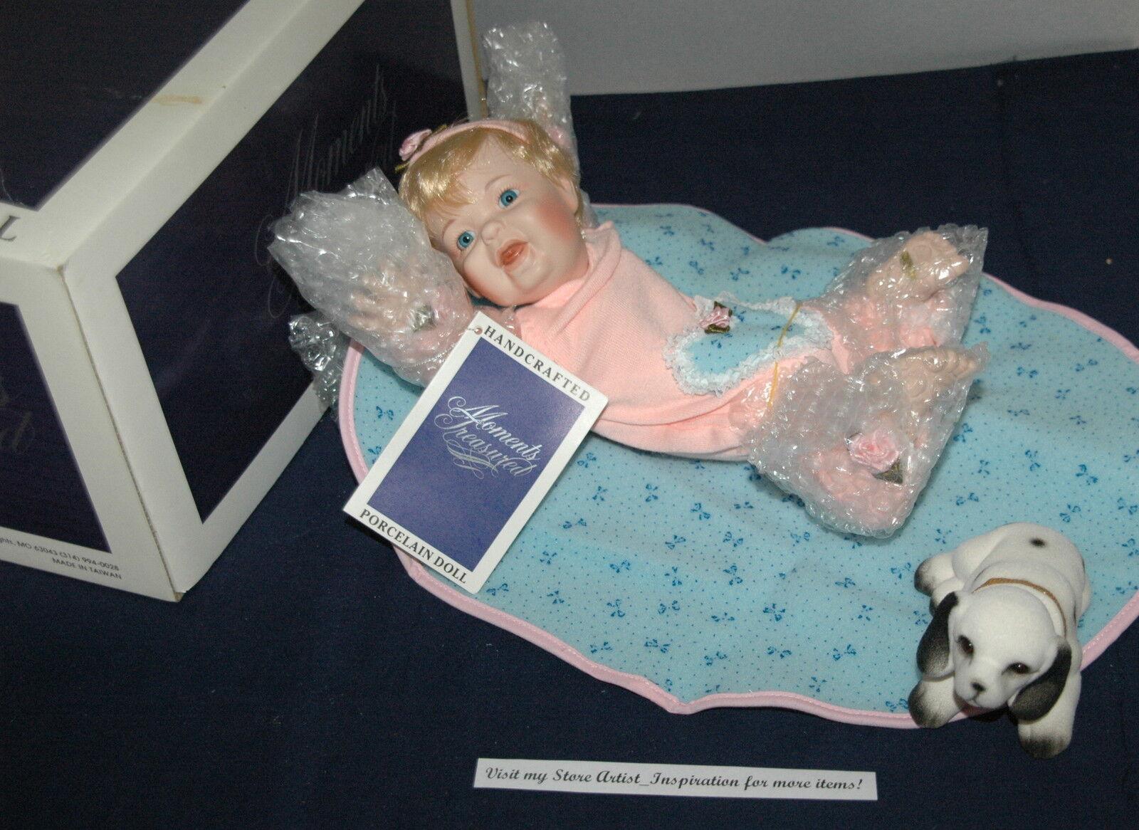 Moments Treasures Aubrey All Porcelain Doll & Pupy Posable Arms & Legs 10