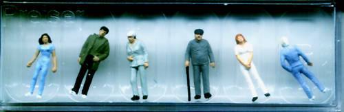 Les passants preiser 14002 personnages voie HO Accessoires OVP 16,5 mm