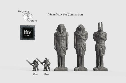 Empire of Scorching Sands Wargaming Terrain D/&D DnD Egyptian Statues
