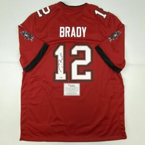 Details about Autographed/Signed TOM BRADY Red Authentic Nike Buccaneers Jersey Fanatics COA