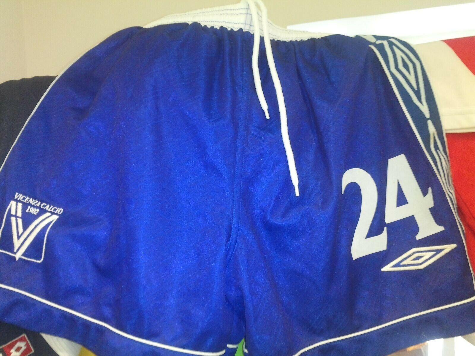 Pantaloncino vicenza match worn short no maglia shirt umbro serie a footbtutti