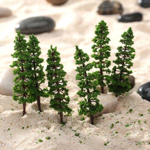 10PCS 9cm Green Pine Trees Model Street Train Railway Scenery HO N Scale Layout