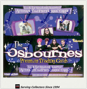 THE-OSBOURNES-Trading-Card-Factory-Box-36-pks-Inkworks-Official-Album