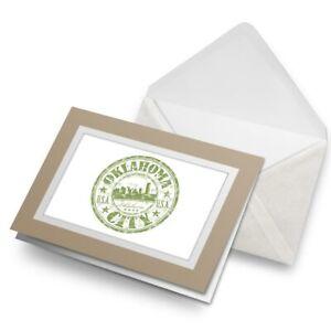 Greetings-Card-Biege-Oklahoma-City-USA-American-Travel-5833