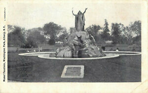 Postcard-Moses-039-Fountian-Washington-Park-Albany-NY