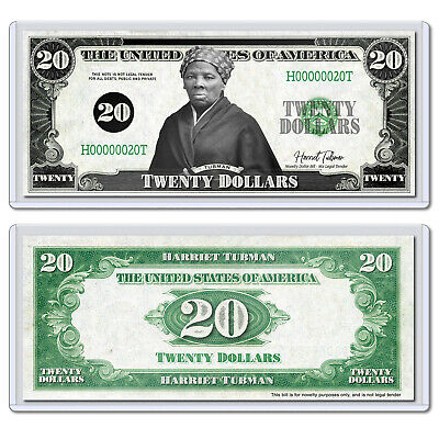 Harriet Tubman Twenty 20 Dollar Bill Novelty Collectible Money With Case Ebay
