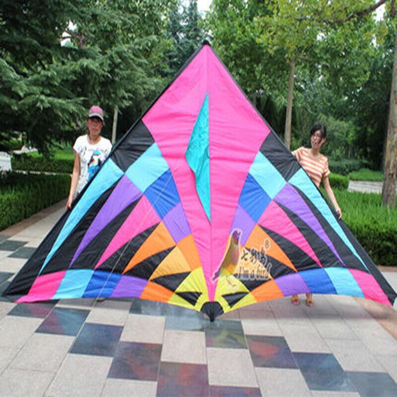 5m Enorma Power Triangel  Delta drake MultiFärg Outdoor Fun Sports leksaker bra flygaga