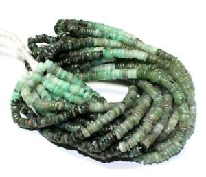 Natural Green Jasper Heishi Tyre Wheel Shape Gemstone Beads,Smooth Heishi Beads,Fine Quality Beads,Jewelry Making Beads 13 Inches