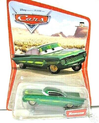 Disney Cars 1:55 Ramone Chevy Impala 1 Nuevo serie verde