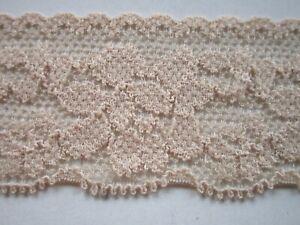 2-meter-Spitze-Beige-elastisch-3cm-breit-Borte-0873-s