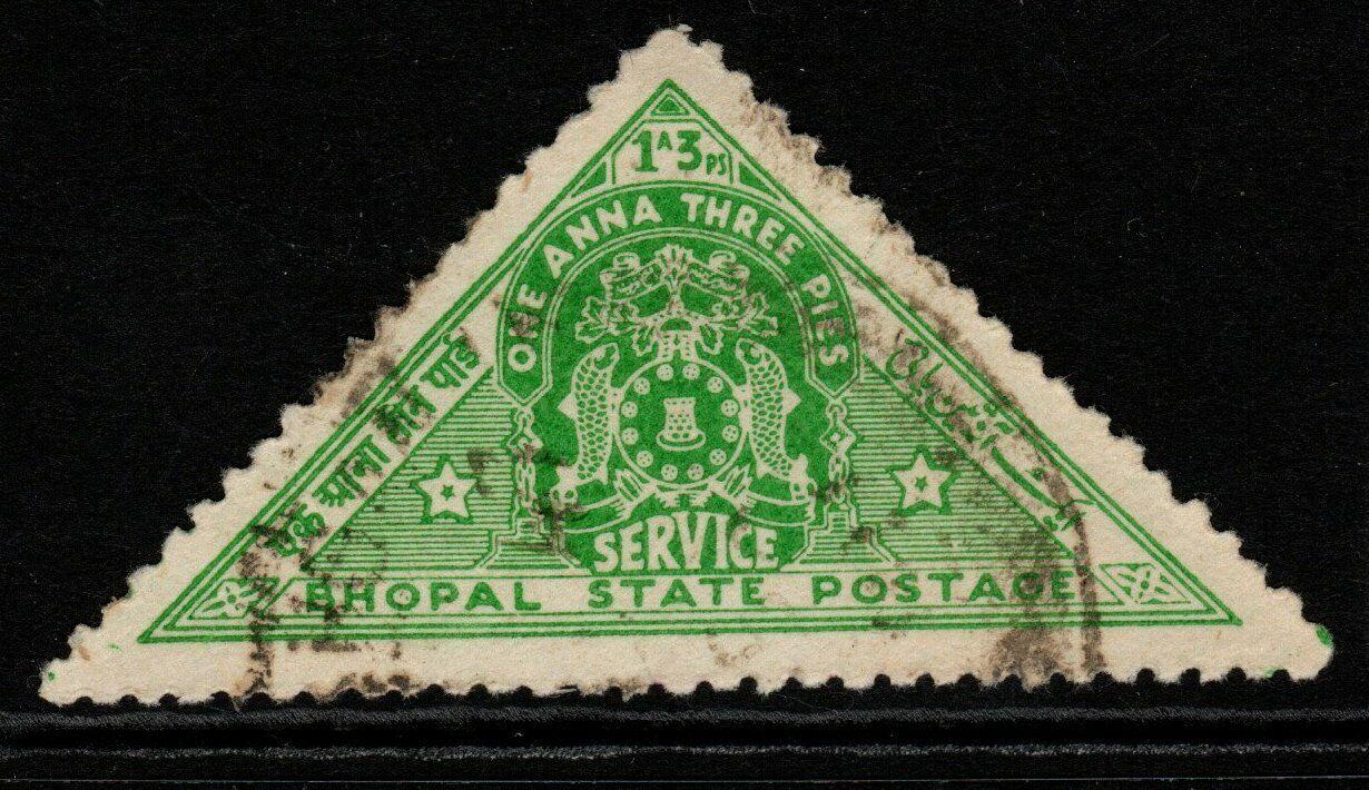 INDIA-BHOPAL SGO346 1941 1a3p EMERALD-GREEN USED