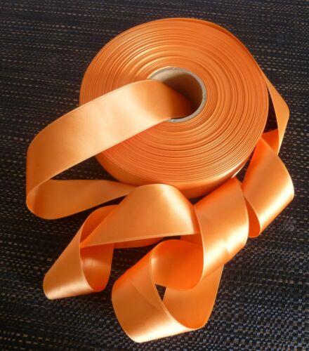 Bänder Satinband 40 mm breit Double Face Farbe Pfirsich 5 Meter