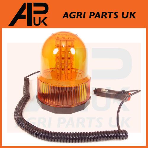 LED Magnetic Mounting Flashing Beacon Warning Light Car Van Truck 4x4 Tractor 12